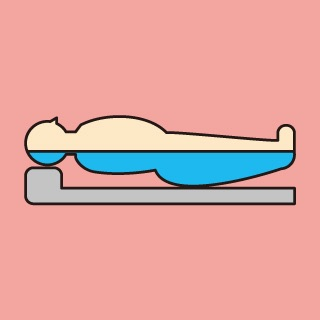 仰向けで寝た時の身体の水分分布
